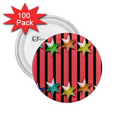 Star Christmas Greeting 2.25  Buttons (100 pack)