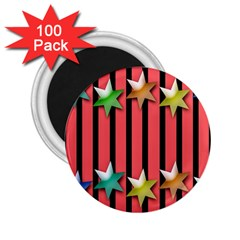 Star Christmas Greeting 2.25  Magnets (100 pack)
