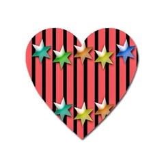 Star Christmas Greeting Heart Magnet