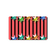 Star Christmas Greeting Magnet (Name Card)