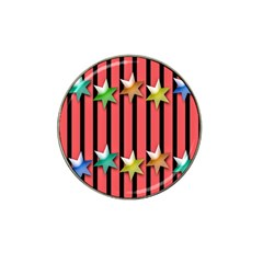 Star Christmas Greeting Hat Clip Ball Marker (4 pack)