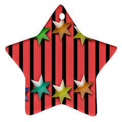 Star Christmas Greeting Star Ornament (Two Sides)