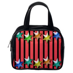 Star Christmas Greeting Classic Handbags (One Side)