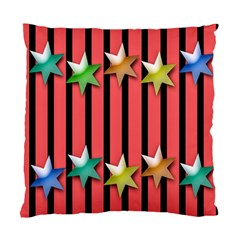 Star Christmas Greeting Standard Cushion Case (Two Sides)