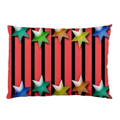 Star Christmas Greeting Pillow Case