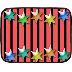 Star Christmas Greeting Fleece Blanket (Mini)