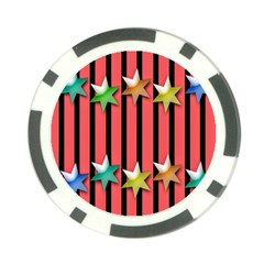 Star Christmas Greeting Poker Chip Card Guard (10 pack)