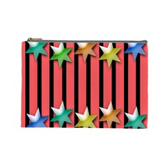 Star Christmas Greeting Cosmetic Bag (Large)
