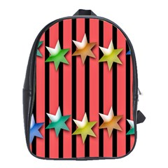 Star Christmas Greeting School Bags(Large)