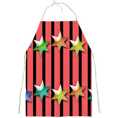 Star Christmas Greeting Full Print Aprons