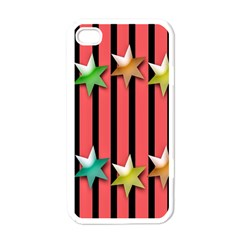 Star Christmas Greeting Apple iPhone 4 Case (White)