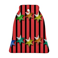 Star Christmas Greeting Bell Ornament (Two Sides)