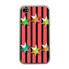 Star Christmas Greeting Apple iPhone 4 Case (Clear)