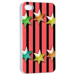 Star Christmas Greeting Apple iPhone 4/4s Seamless Case (White)
