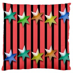 Star Christmas Greeting Large Cushion Case (One Side)