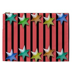 Star Christmas Greeting Cosmetic Bag (XXL)