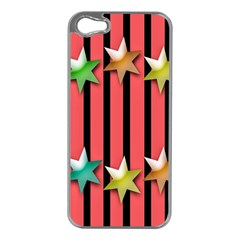 Star Christmas Greeting Apple iPhone 5 Case (Silver)