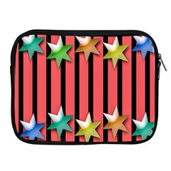 Star Christmas Greeting Apple iPad 2/3/4 Zipper Cases