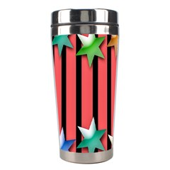 Star Christmas Greeting Stainless Steel Travel Tumblers