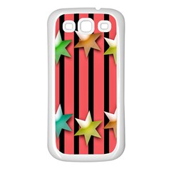 Star Christmas Greeting Samsung Galaxy S3 Back Case (White)
