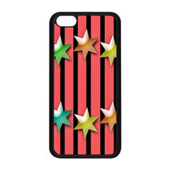 Star Christmas Greeting Apple iPhone 5C Seamless Case (Black)