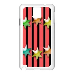 Star Christmas Greeting Samsung Galaxy Note 3 N9005 Case (White)