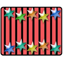 Star Christmas Greeting Double Sided Fleece Blanket (Medium)
