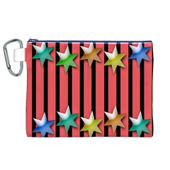Star Christmas Greeting Canvas Cosmetic Bag (XL)