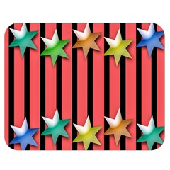 Star Christmas Greeting Double Sided Flano Blanket (medium)