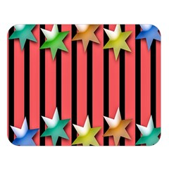 Star Christmas Greeting Double Sided Flano Blanket (Large)