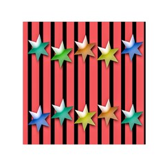 Star Christmas Greeting Small Satin Scarf (Square)