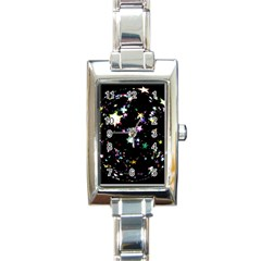 Star Ball About Pile Christmas Rectangle Italian Charm Watch