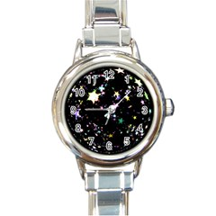 Star Ball About Pile Christmas Round Italian Charm Watch