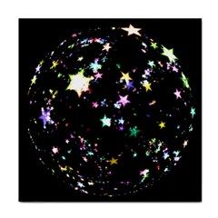 Star Ball About Pile Christmas Tile Coasters