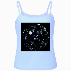 Star Ball About Pile Christmas Baby Blue Spaghetti Tank