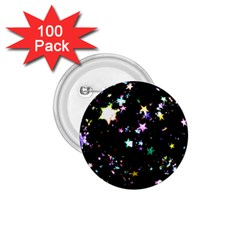 Star Ball About Pile Christmas 1.75  Buttons (100 pack)