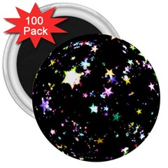 Star Ball About Pile Christmas 3  Magnets (100 pack)