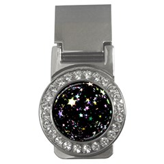 Star Ball About Pile Christmas Money Clips (CZ)