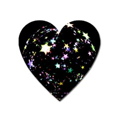 Star Ball About Pile Christmas Heart Magnet