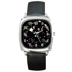 Star Ball About Pile Christmas Square Metal Watch