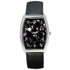 Star Ball About Pile Christmas Barrel Style Metal Watch