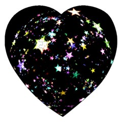 Star Ball About Pile Christmas Jigsaw Puzzle (heart)