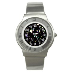 Star Ball About Pile Christmas Stainless Steel Watch