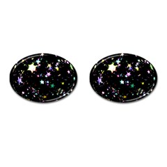 Star Ball About Pile Christmas Cufflinks (Oval)
