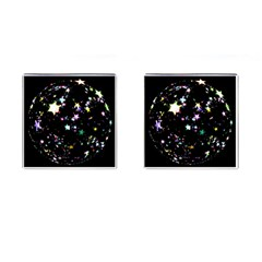 Star Ball About Pile Christmas Cufflinks (Square)