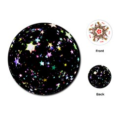 Star Ball About Pile Christmas Playing Cards (Round)