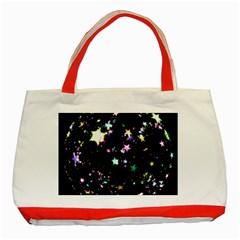 Star Ball About Pile Christmas Classic Tote Bag (Red)