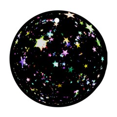 Star Ball About Pile Christmas Round Ornament (Two Sides)