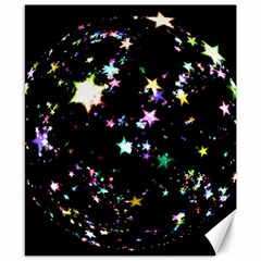 Star Ball About Pile Christmas Canvas 8  x 10