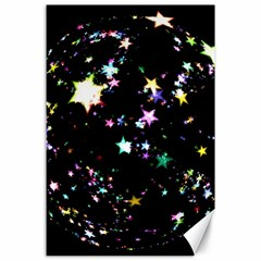 Star Ball About Pile Christmas Canvas 24  x 36